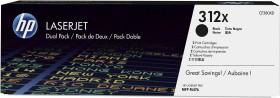HP Toner 312X schwarz hohe Kapazität, 2er-Pack (CF380XD)