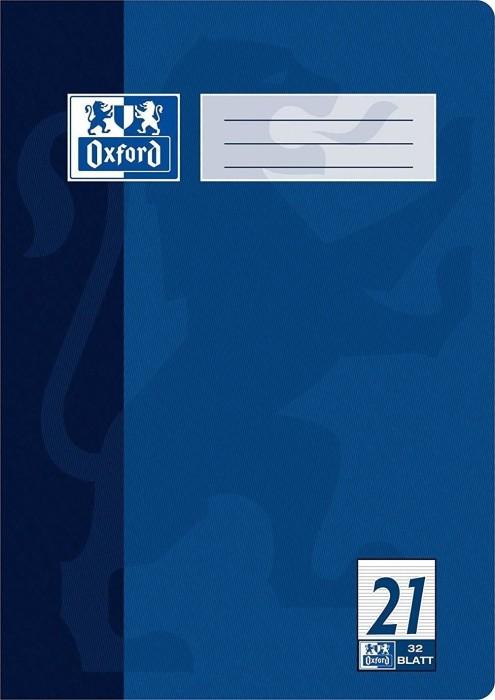 Oxford Schulheft dunkelblau A4 Lineatur 21, 32 Blatt (100050327)