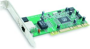 D-Link DGE-530T, 1x 1000Base-T, PCI, low profile