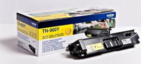 Brother Toner TN-900YTWIN gelb, 2er-Pack (TN900YTWIN)