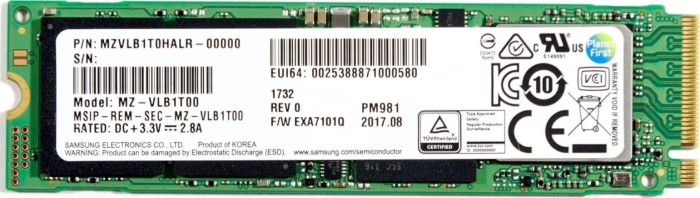 Samsung SSD PM981 256GB, M.2 (MZVLB256HAHQ-00000)