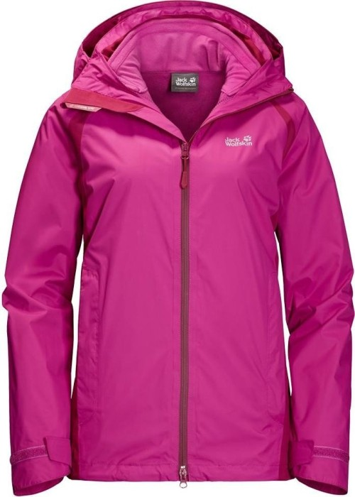 wholesale dealer bf862 c2103 Jack Wolfskin Hopewell Rocks 3in1 Jacke fuchsia (Damen) (1109671-2047) ab €  107,10