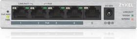 ZyXEL GS1000 desktop Gigabit switch, 5x RJ-45, PoE+ (GS1005HP-EU0101F)