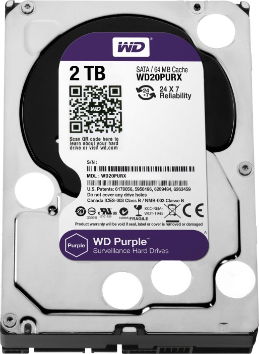 Western Digital WD Purple 2TB, SATA 6Gb/s (WD20PURX)