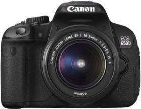 Canon EOS 650D schwarz mit Objektiv Fremdhersteller