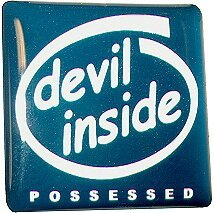 Case Badge Devil Inside (versch. Farben)