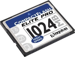 Kingston CompactFlash Card (CF) elite Pro 50x 1GB (CF/1GB-S)