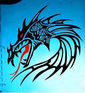 aufkleber Dragon
