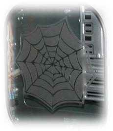 aufkleber Spinnennetz