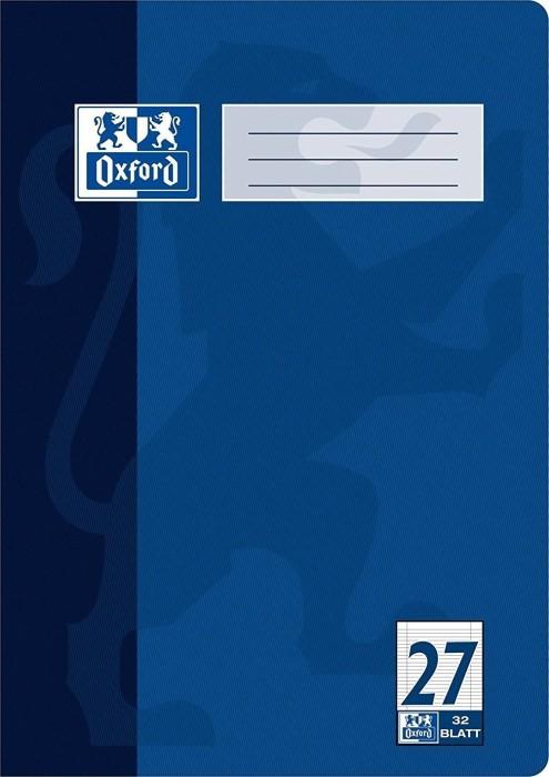 Oxford Schulheft dunkelblau A4 Lineatur 27 mit Doppelrand, 32 Blatt (100050331)