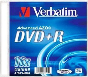Verbatim DVD+R 4.7GB 8x, 1er Jewelcase printable