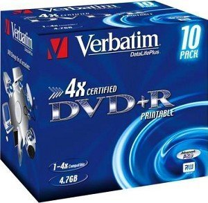 Verbatim DVD+R 4.7GB 4x, 10 pieces (different variants)
