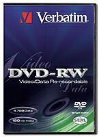 Verbatim DVD-RW 4.7GB 1x, 10-pack Videobox