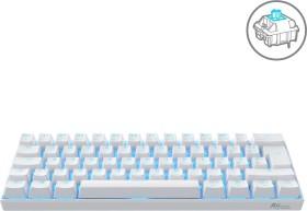 RK Royal Kludge RK61-DE TKL PBT white, LEDs blue, Kailh BLUE, USB/Bluetooth, DE
