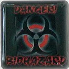 Case Badge/Label Aufkleber Biohazard (versch. Versionen)