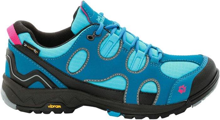 Jack Wolfskin Crosswind Texapore O2+ Trekking & Wanderhalbschuhe, Blau(Dark Turquoise), 40 EU