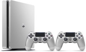 Sony PlayStation 4 Slim - 500GB inkl. 2 Controller silber
