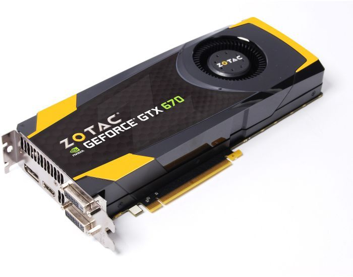 Zotac GeForce GTX 670, 4GB GDDR5, 2x DVI, HDMI, DisplayPort (ZT-60303-10P)