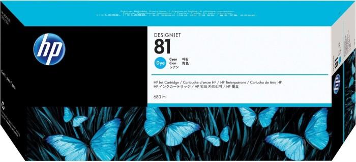 HP 81 tusz błękitny (C4931A)