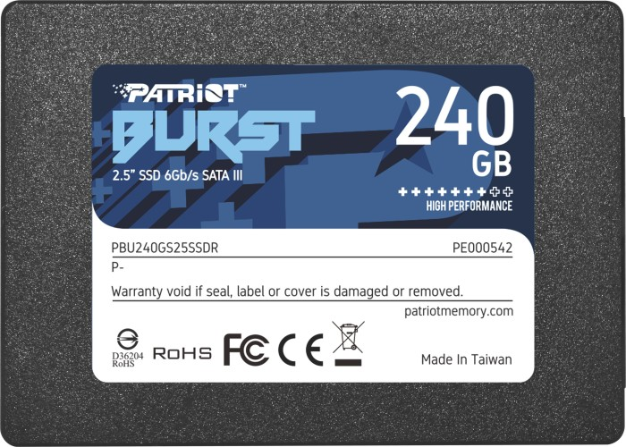 Patriot Burst 240GB, SATA (PBU240GS25SSDR)