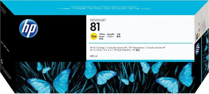 HP ink Nr 81 yellow (C4933A)