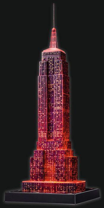 Ravensburger 125661 Puzzle 3D Empire State Building Night Edition 216 Teile 3D Puzzles
