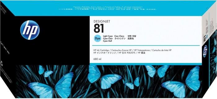 HP 81 Tinte cyan hell (C4934A)