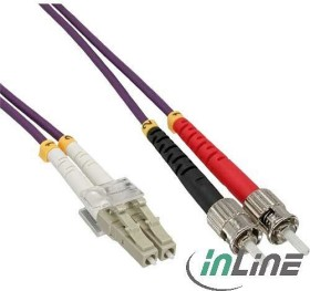 InLine LWL Duplex Kabel, OM4, 2x LC Stecker/2x ST Stecker, 5.0m (88505P)
