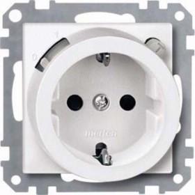 Merten System M FI-SCHUKO-Sicherheitssteckdose thermoplast classymatt, polar white (232819)