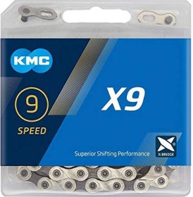 KMC X9 9 speed chain silver/grey (BX09NG114)