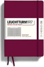 Leuchtturm1917 notebook Medium A5 Hardcover, checkered, port red (359694)