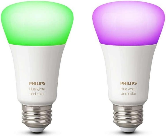 Philips Hue White and Color Ambiance Single LED-Bulb E27 10W, 2er-Pack (729052-00)