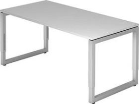 Hammerbacher Ergonomic Plus R-Serie RS16/5, grau/silber, Schreibtisch