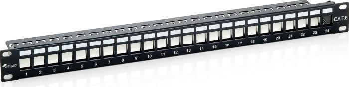 """Equip Patchpanel Cat6 19"""", 1HE, schwarz, 24-Port (769124)"""