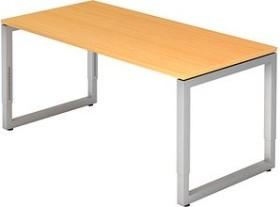 Hammerbacher Ergonomic Plus R-Serie RS16/6, Buche/silber, Schreibtisch