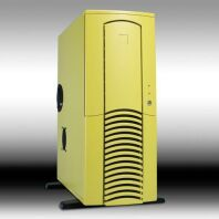 Chieftec Dragon DX-01YLD-U Midi-Tower with door and USB/FireWire front, yellow (without power supply) -- © CWsoft
