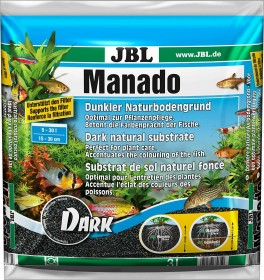 JBL Manado Dark Naturbodengrund für Süßwasser Aquarien, 3l (6703500)
