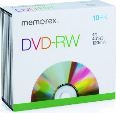 Memorex DVD-RW 4.7GB, 10er-Pack -- via Amazon Partnerprogramm