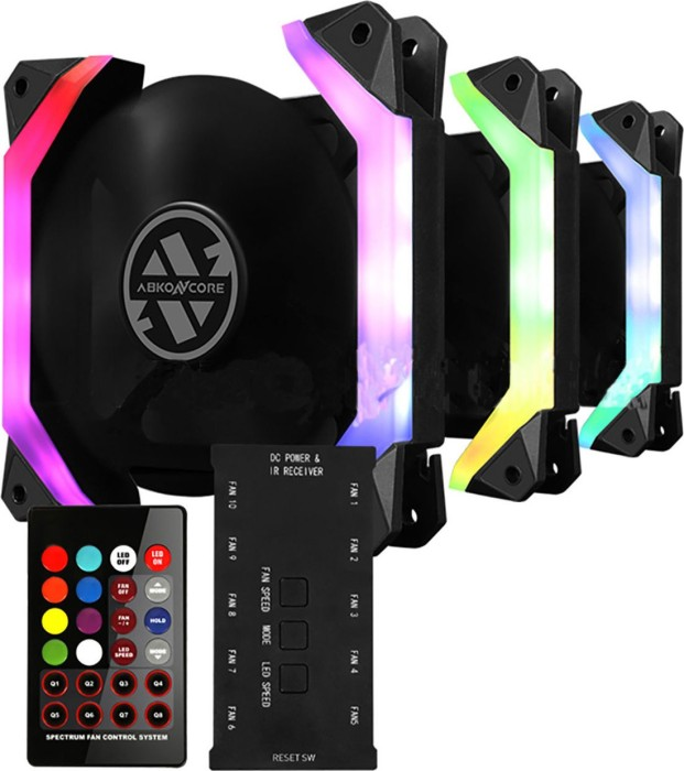 Abkoncore Spider Spectrum 3in1, 120mm, 3er-Pack, LED-Steuerung (600700050)
