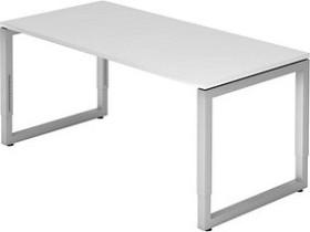 Hammerbacher Ergonomic Plus R-Serie RS16/W, weiß/silber, Schreibtisch