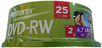 Memorex DVD-RW 4.7GB 2x,  5er-Pack (854612-05) -- via Amazon Partnerprogramm