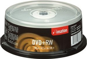 Imation DVD+RW 4.7GB 4x, 25-pack Spindle (16867)