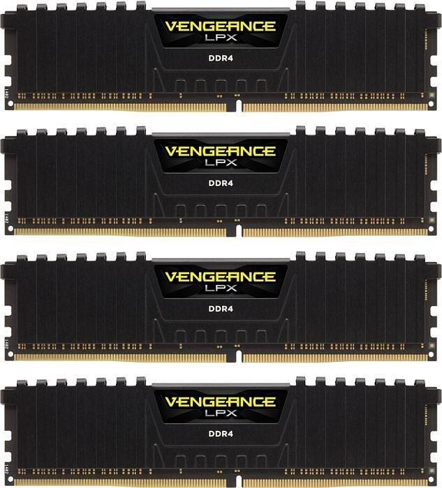 Corsair Vengeance LPX schwarz DIMM Kit 64GB, DDR4-3466, CL16-18-18-36 (CMK64GX4M4B3466C16)