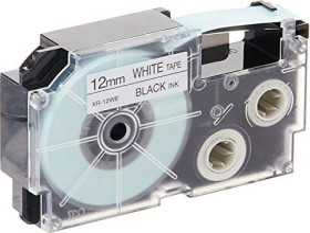 Casio XR-12WE1 label-making tape 12mm, black/white