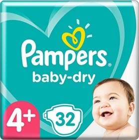 Pampers Baby-Dry Gr.4+ Einwegwindel, 10-15kg, 32 Stück