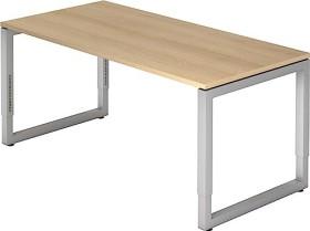 Hammerbacher Ergonomic Plus R-Serie RS16/E, Eiche/silber, Schreibtisch
