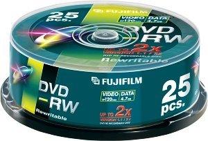 Fujifilm DVD-RW 4.7GB 2x, Cake Box 25 sztuk (48133)