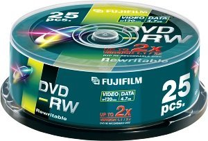 Fujifilm DVD-RW 4.7GB 2x, 25-pack Spindle (48133)