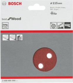 Bosch Professional C470 Best for Wood and Paint Exzenterschleifblatt-Set 115mm K60/120/240, 6-tlg. (2608605066)