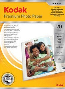 Kodak 3937729 premium photo paper high gloss A4, 250g, 20 sheets
